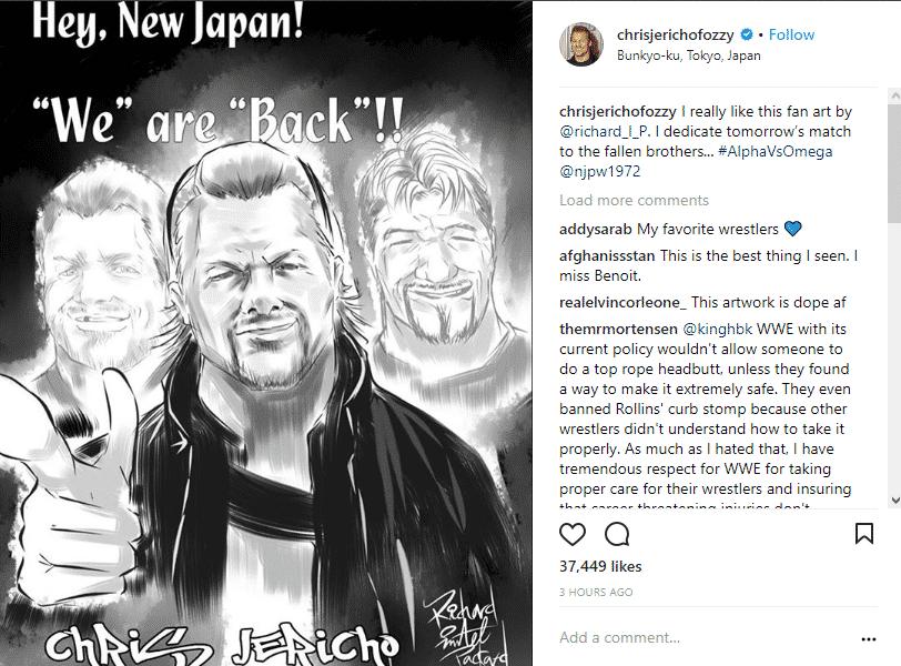 Chris Jericho dedica su lucha en Wrestle Kingdom a Chris Benoit y Eddie Guerrero 1