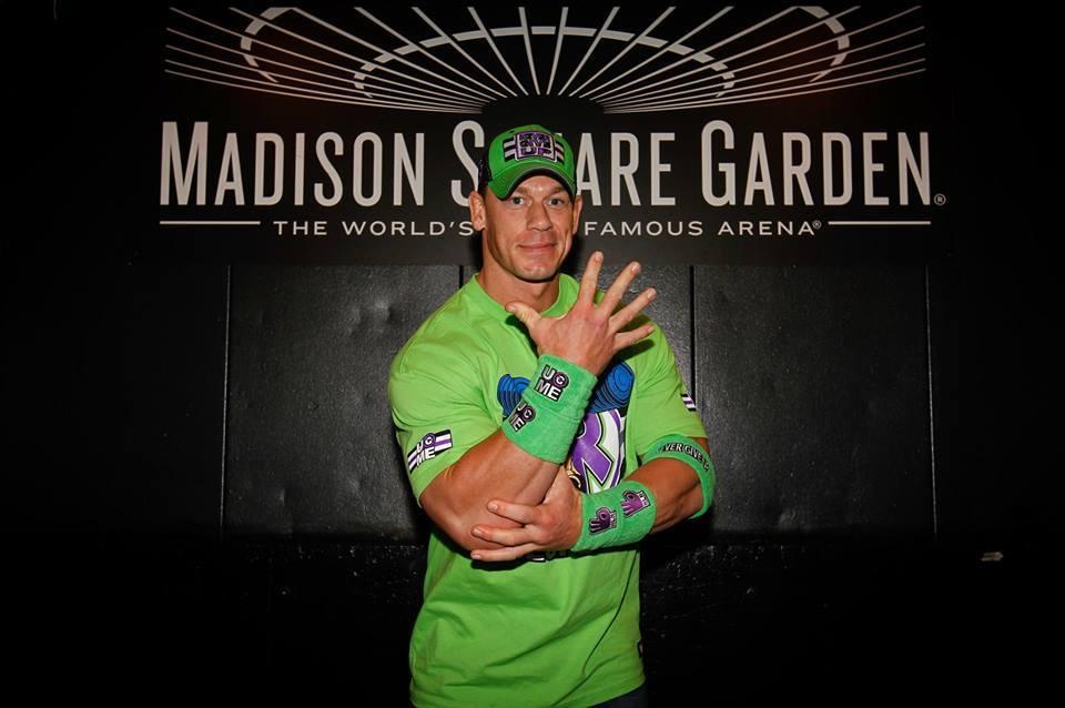 John Cena en el mítico Madison Square Garden de New York, New York (26/12/2017) / WWE©