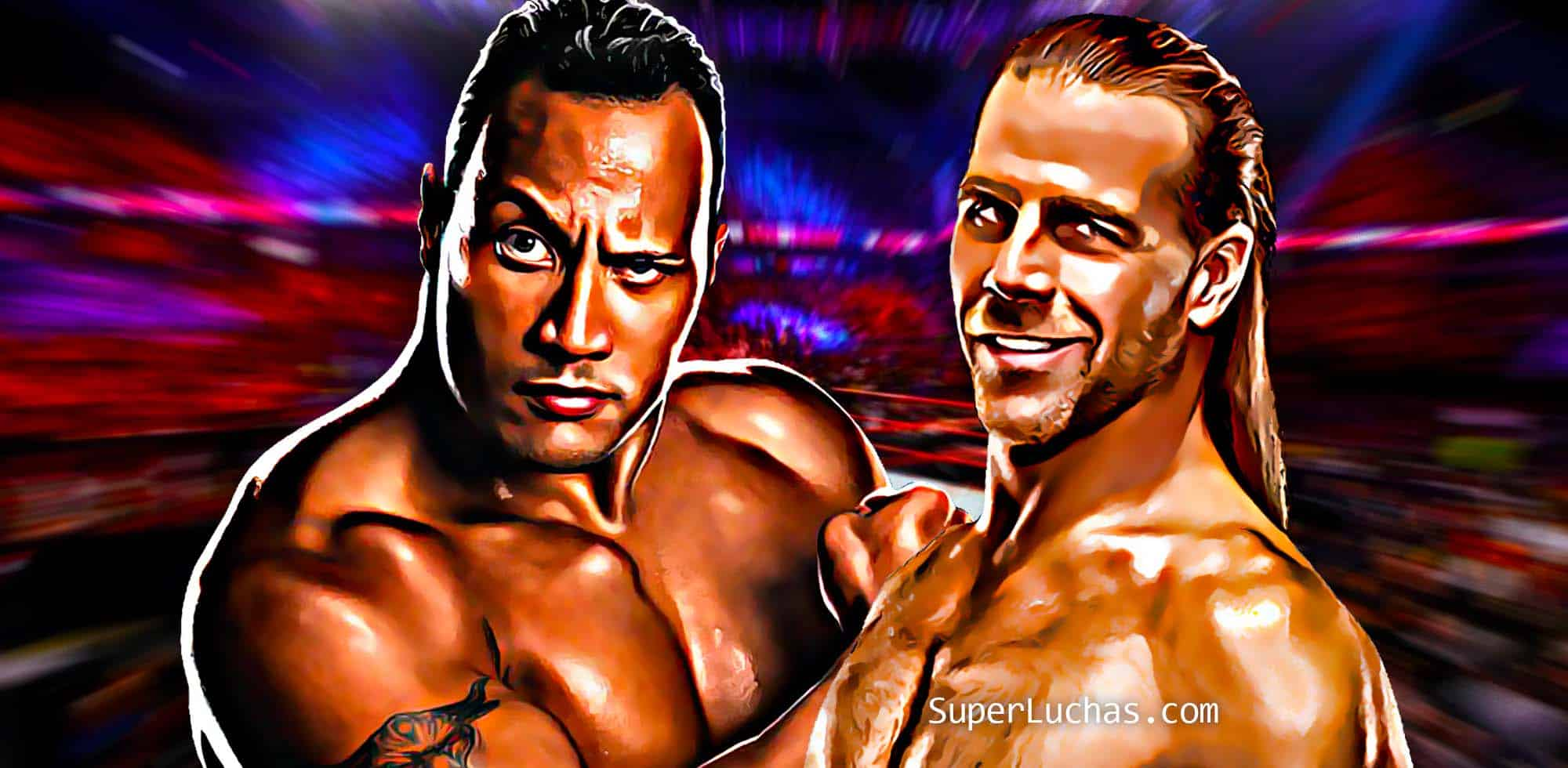The Rock vs Shawn Michaels