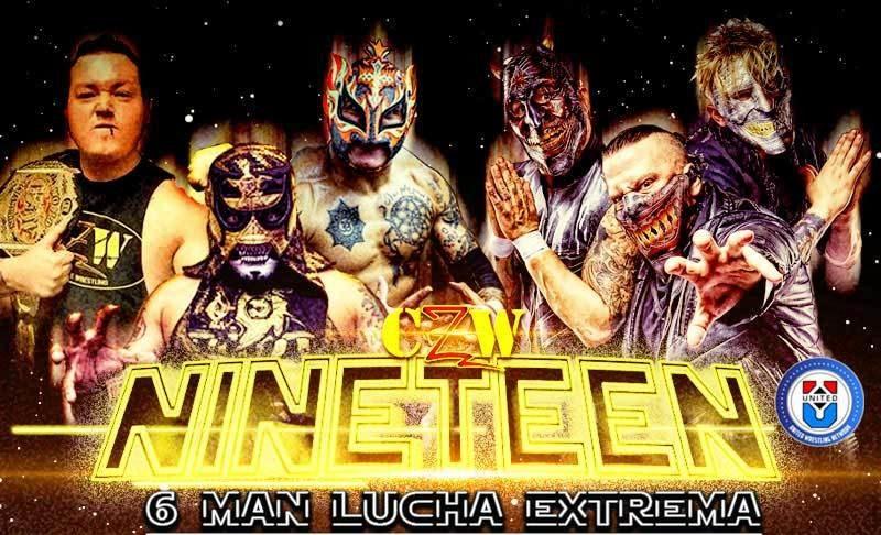 "Penta Zero M and Phoenix King in ""Nineteen"" by CZW 6"