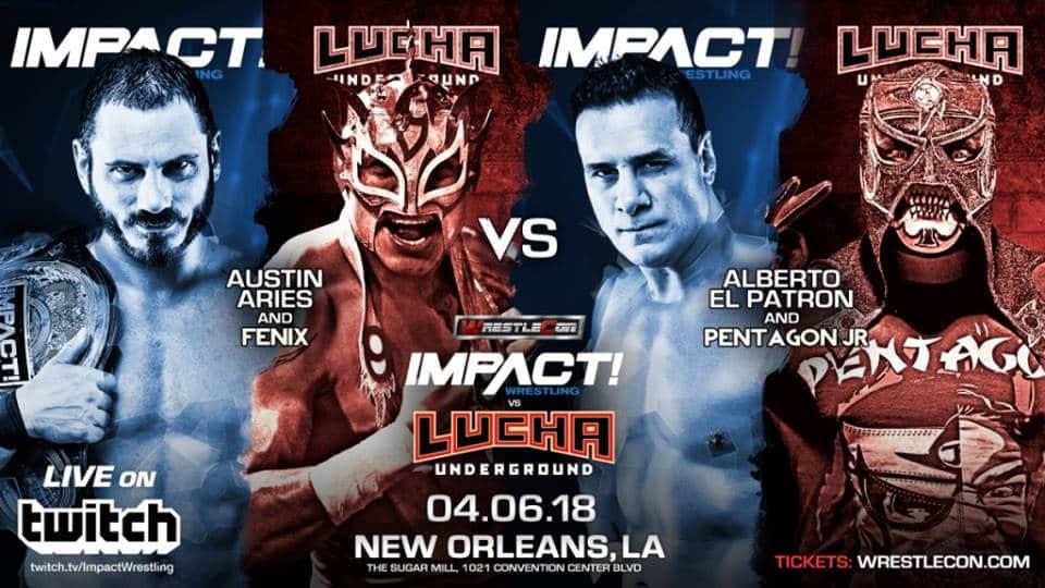 Tres mexicanos encabezarán el Impact vs. Lucha Underground 1