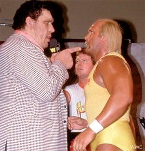 """André el Gigante, """"Rowdy"""" Roddy Piper y Hulk Hogan / WWE©"""