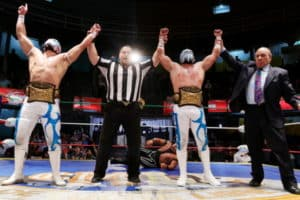 Tritón y Esfinge, los nuevos Campeones de Parejas de la Arena Coliseo. 88