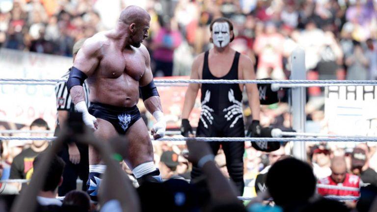 Sting vs. Triple H en WrestleMania 31.