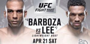Cambios en la cartelera de UFC Fight Night: Barboza vs Lee 3
