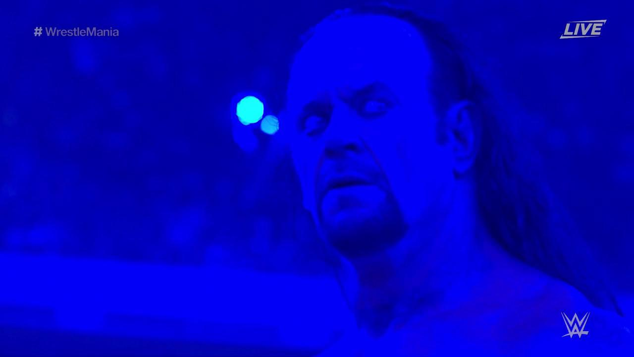 The Undertaker regresa y vence a John Cena en WWE WrestleMania 34 (08/04/2018) / WWE©