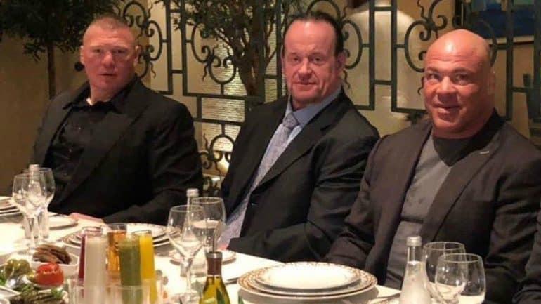 Undertaker se encaró con Brock Lesnar en UFC