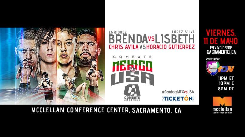 """Combate Américas (11-05-18)- """"Combate Américas: México vs. USA"""" Lisbeth """"Coneja"""" López Silvavs Brenda Enríquez 1"""