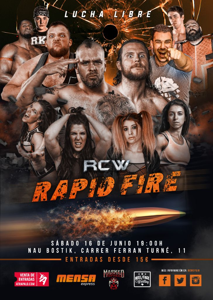 """RCW presenta """"Rapid Fire"""" con lo mejor de la lucha internacional 2"""