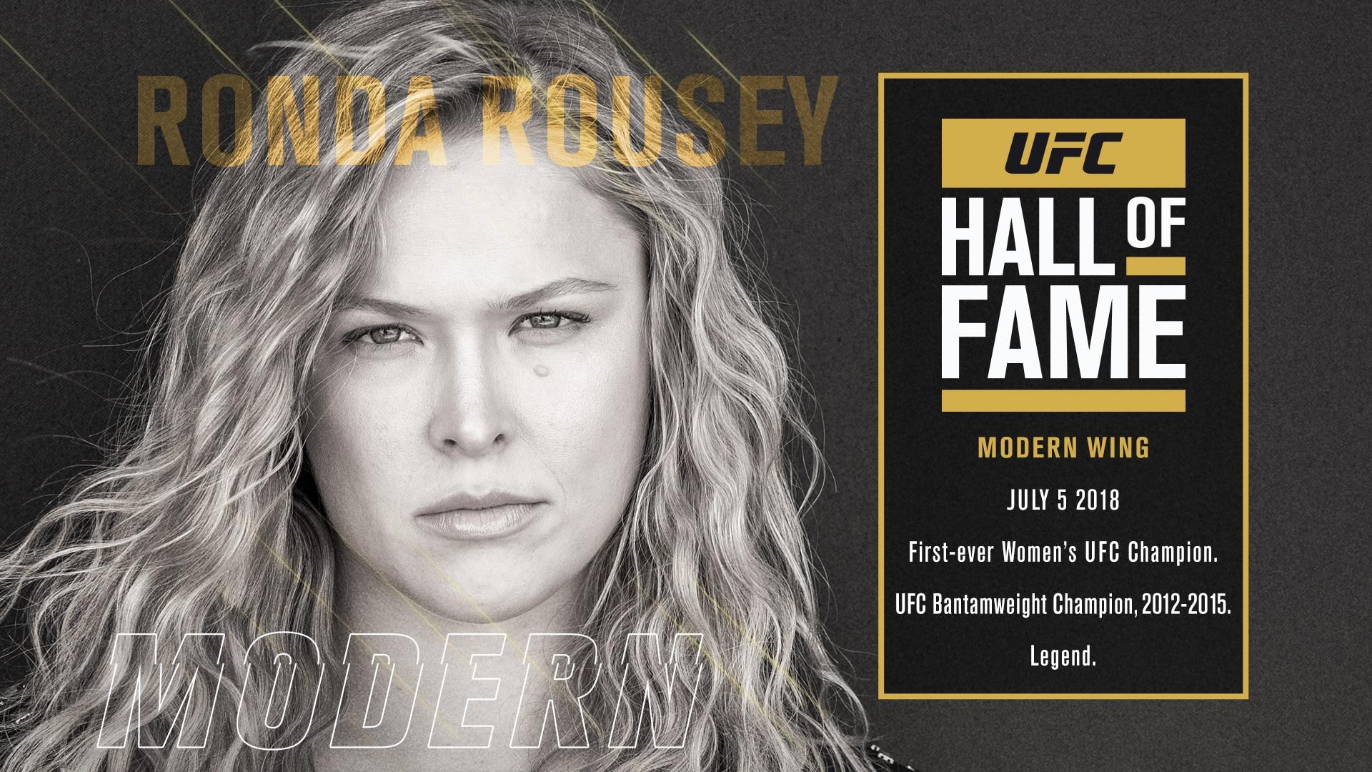 Ronda Rousey al Salón de la Fama 1