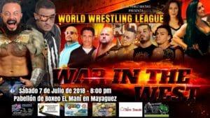 WWL: Cartelera hasta ahora para WAR IN THE WEST   Mecha Wolf vs Morgan por el CAMPEONATO MUNDIAL 9