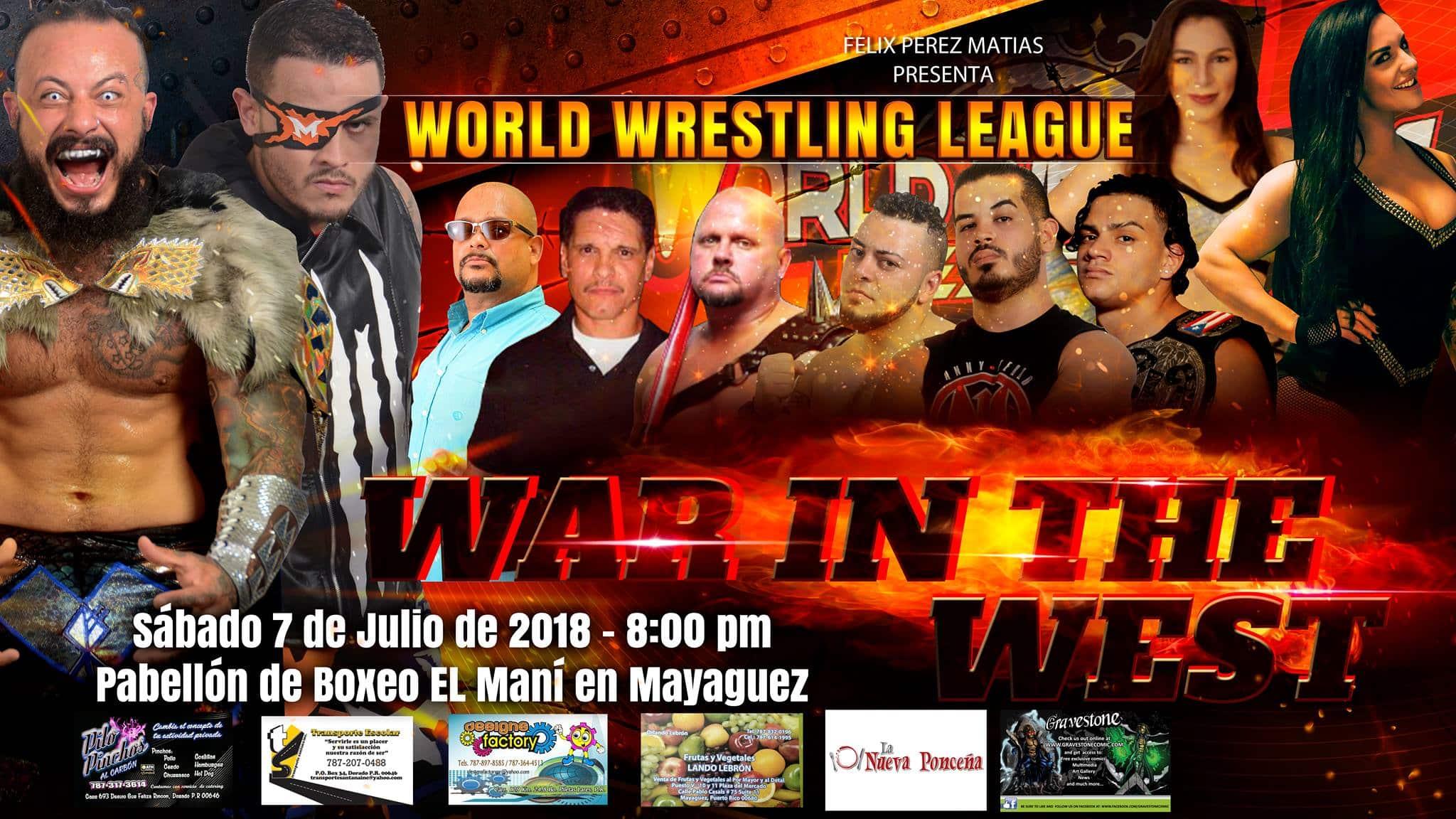 WWL: Cartelera hasta ahora para WAR IN THE WEST | Mecha Wolf vs Morgan por el CAMPEONATO MUNDIAL 19