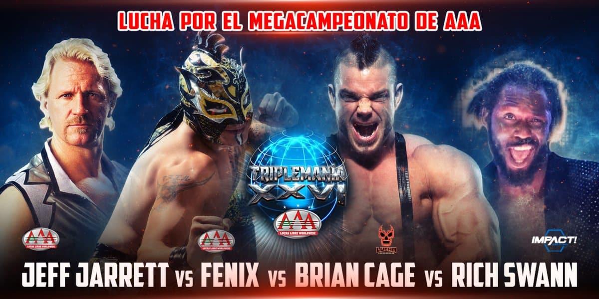 AAA: El Megacampeonato se expondrá en una lucha de cuatro esquinas 2
