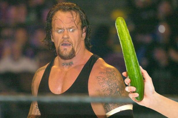The Undertaker se asusta con los pepinos / NYPost.com