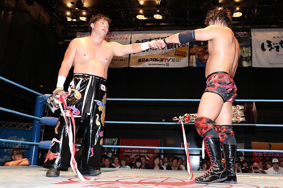 "AJPW:""Jr. Tag Battle of Glory"" Koji Iwamoto y TAJIRI, los ganadores 1"