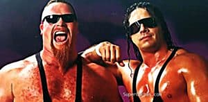 Jim Neidhart y Bret Hart