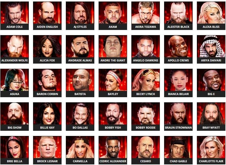 Se revelan algunos rátings de Superestrellas en el WWE 2k19 2