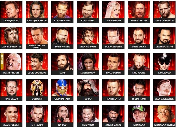 Se revelan algunos rátings de Superestrellas en el WWE 2k19 3