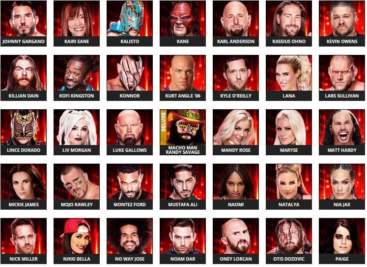 Se revelan algunos rátings de Superestrellas en el WWE 2k19 4