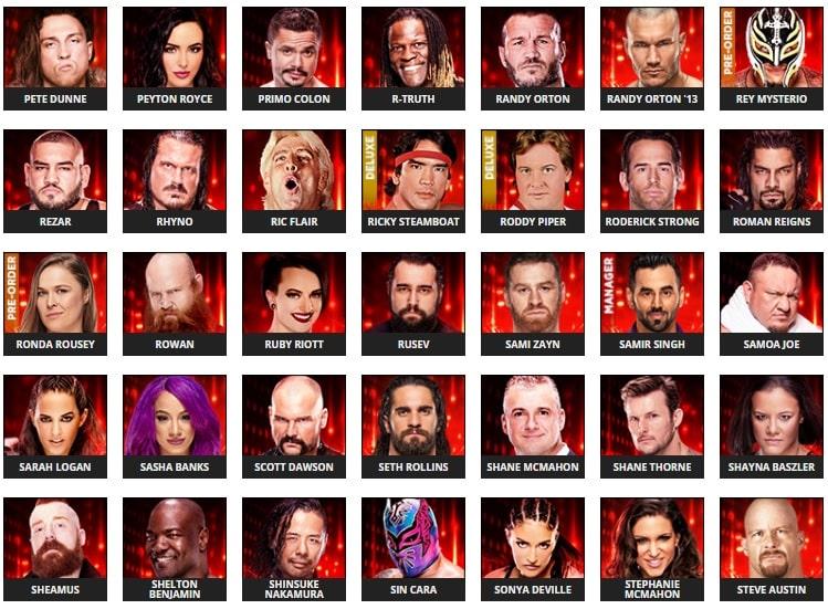 Se revelan algunos rátings de Superestrellas en el WWE 2k19 5