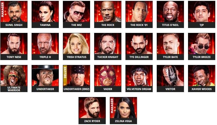 Se revelan algunos rátings de Superestrellas en el WWE 2k19 6