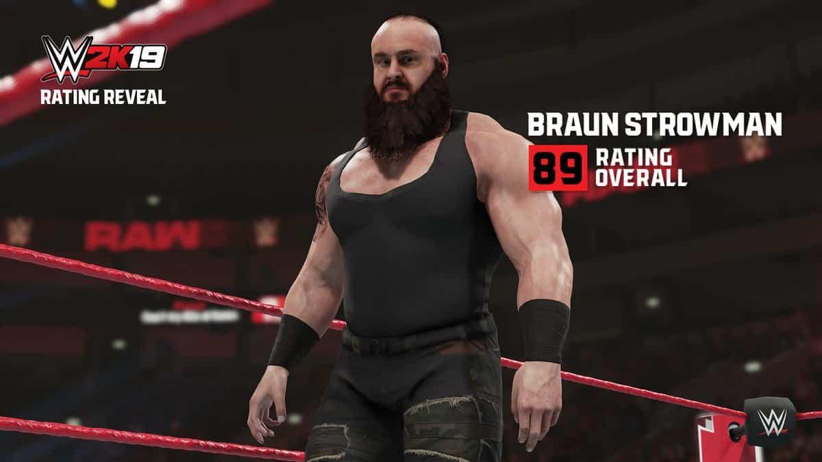 Se revelan algunos rátings de Superestrellas en el WWE 2k19 1