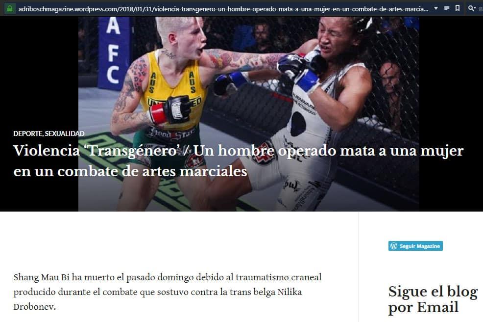 ¿Transexual mató a una mujer en combate de MMA? ¡FALSO! 2