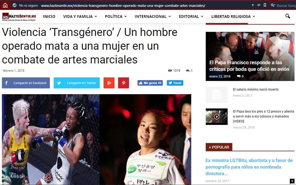 ¿Transexual mató a una mujer en combate de MMA? ¡FALSO! 3