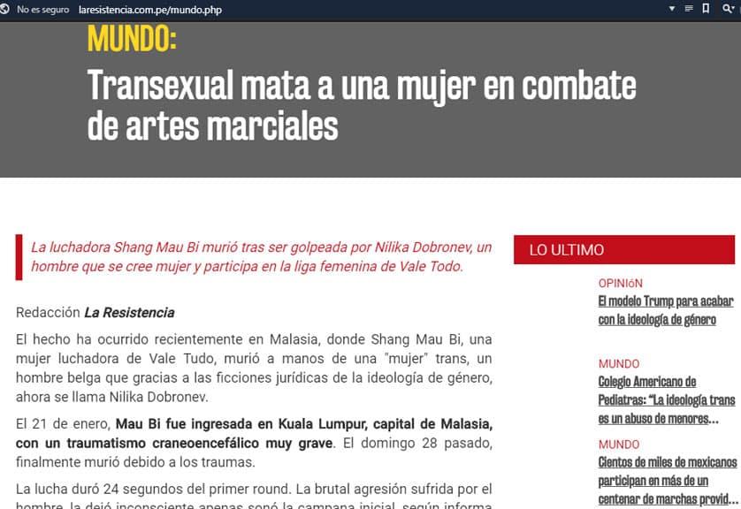 ¿Transexual mató a una mujer en combate de MMA? ¡FALSO! 5