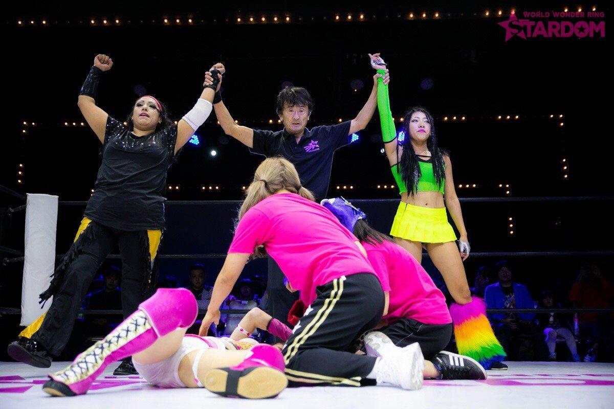 "Stardom:""Goddesses of Stardom Tag League"" Mari Apache y Hana Kimura triunfan 1"