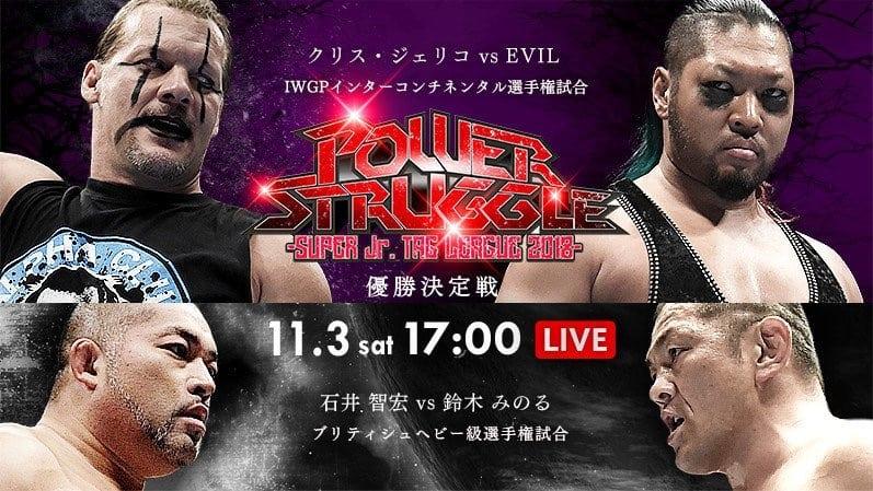 "NJPW:""Power Struggle 2018"" Jericho retiene, nuevos retos para WK 2"