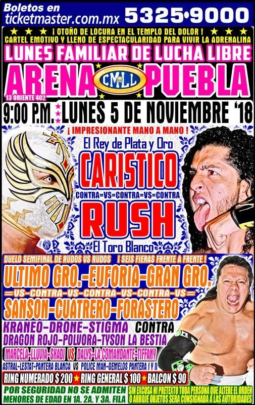 CMLL: Una mirada semanal al CMLL (Del 25 al 31 octubre de 2018) 5