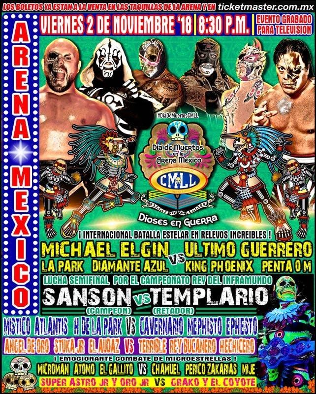 CMLL: Una mirada semanal al CMLL (Del 25 al 31 octubre de 2018) 1