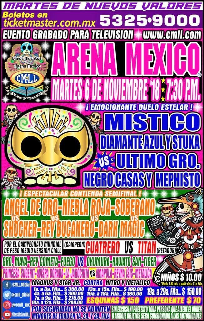 CMLL: Una mirada semanal al CMLL (Del 25 al 31 octubre de 2018) 6