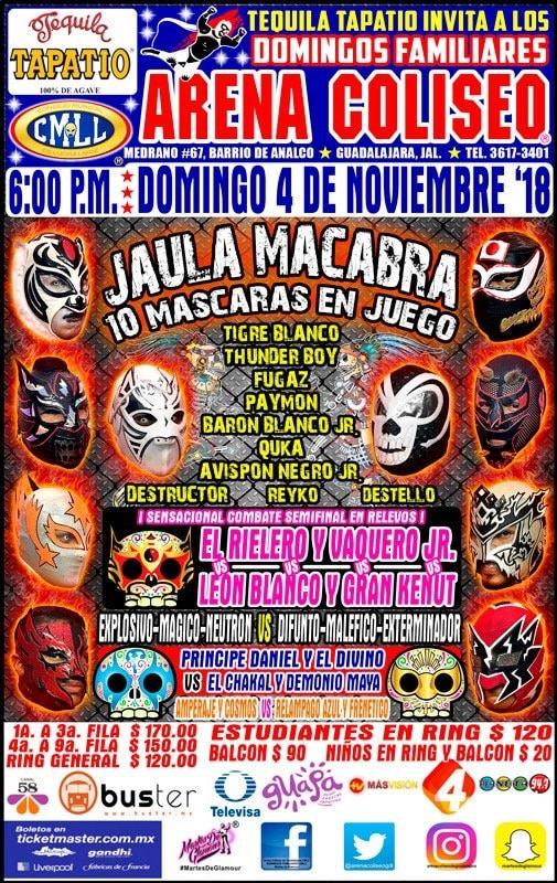 CMLL: Una mirada semanal al CMLL (Del 25 al 31 octubre de 2018) 4