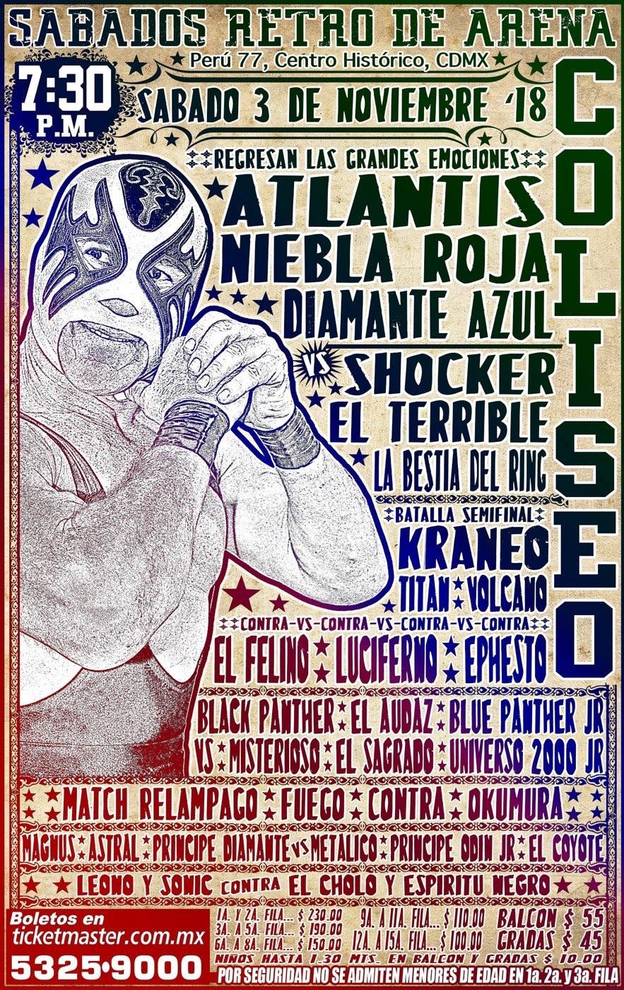 CMLL: Una mirada semanal al CMLL (Del 25 al 31 octubre de 2018) 2