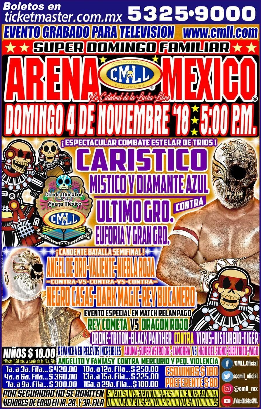 CMLL: Una mirada semanal al CMLL (Del 25 al 31 octubre de 2018) 3