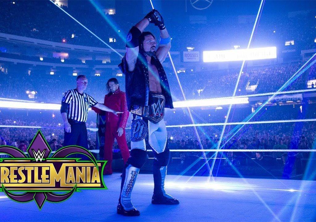 AJ Styles y su entrada en WrestleMania 34 (08/04/2018) - WWE