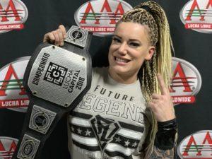 AAA: Taya es la primera Campeona de Lucha Capital 17