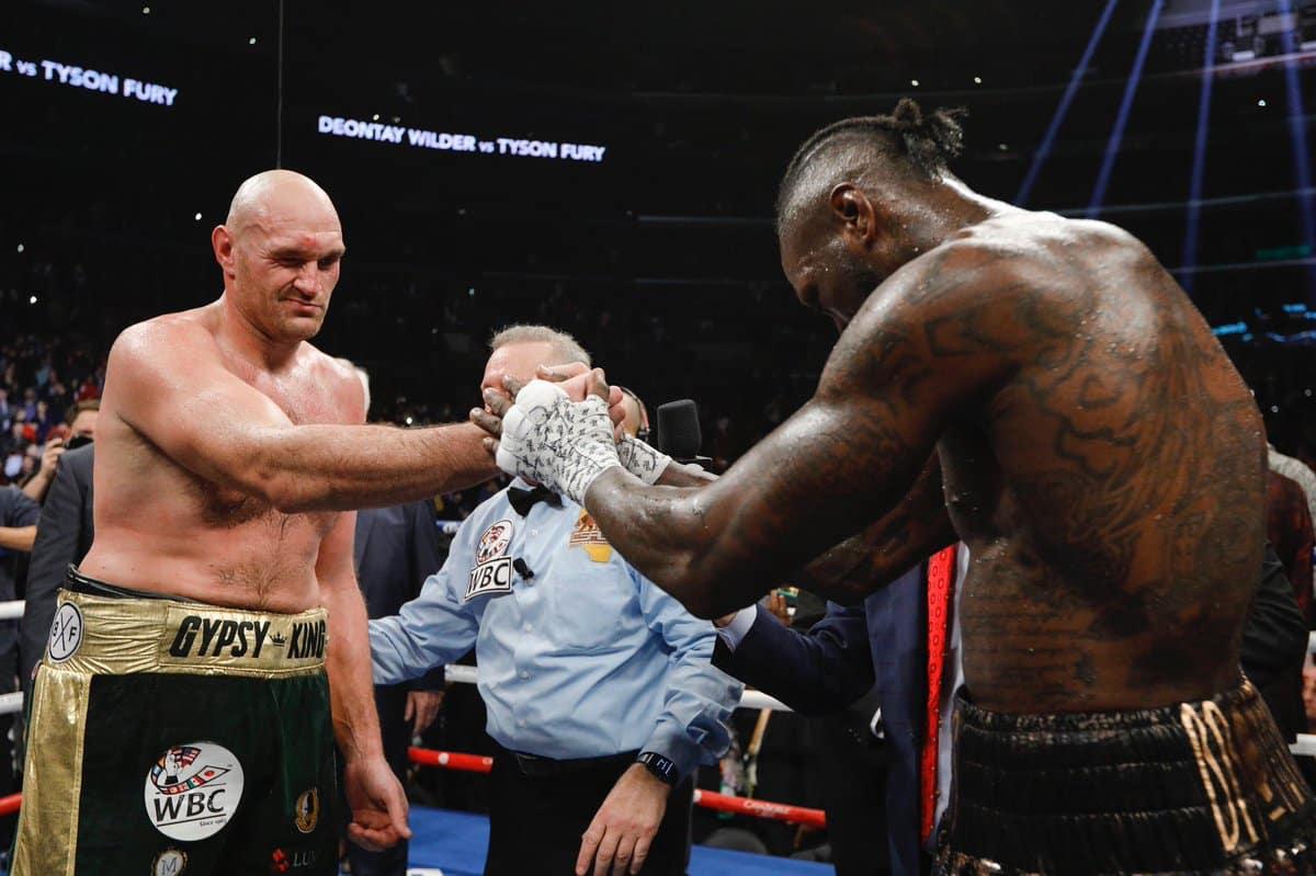 Deontay Wilder retuvo su corona al empatar con Tyson Fury 4