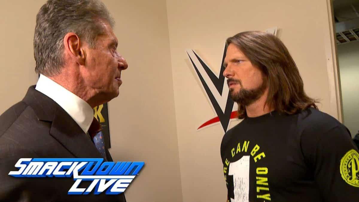 Vince McMahon y AJ Styles cerraron el último SmackDown Live del 2018 (25/12/2018) - WWE