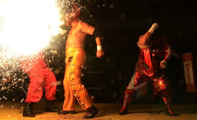 "Zero1: ""Pro-Wrestling Festival in Saga"" Great Sasuke y Nagayo desatan violencia 1"