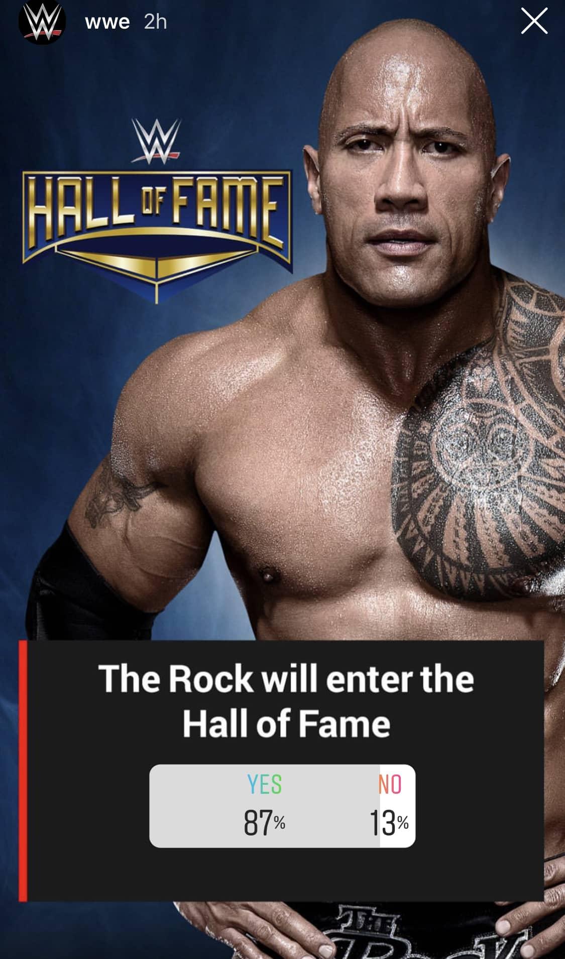 WWE insinúa la inducción de The Rock al WWE Hall of Fame 2019 / Instagram.com/WWE