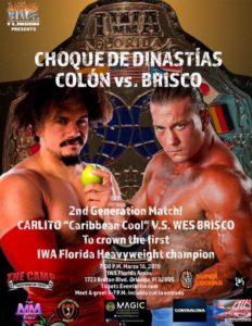 Carlito Caribbean Cool vs Wes Brisco por el Campeonato de IWA Florida 6