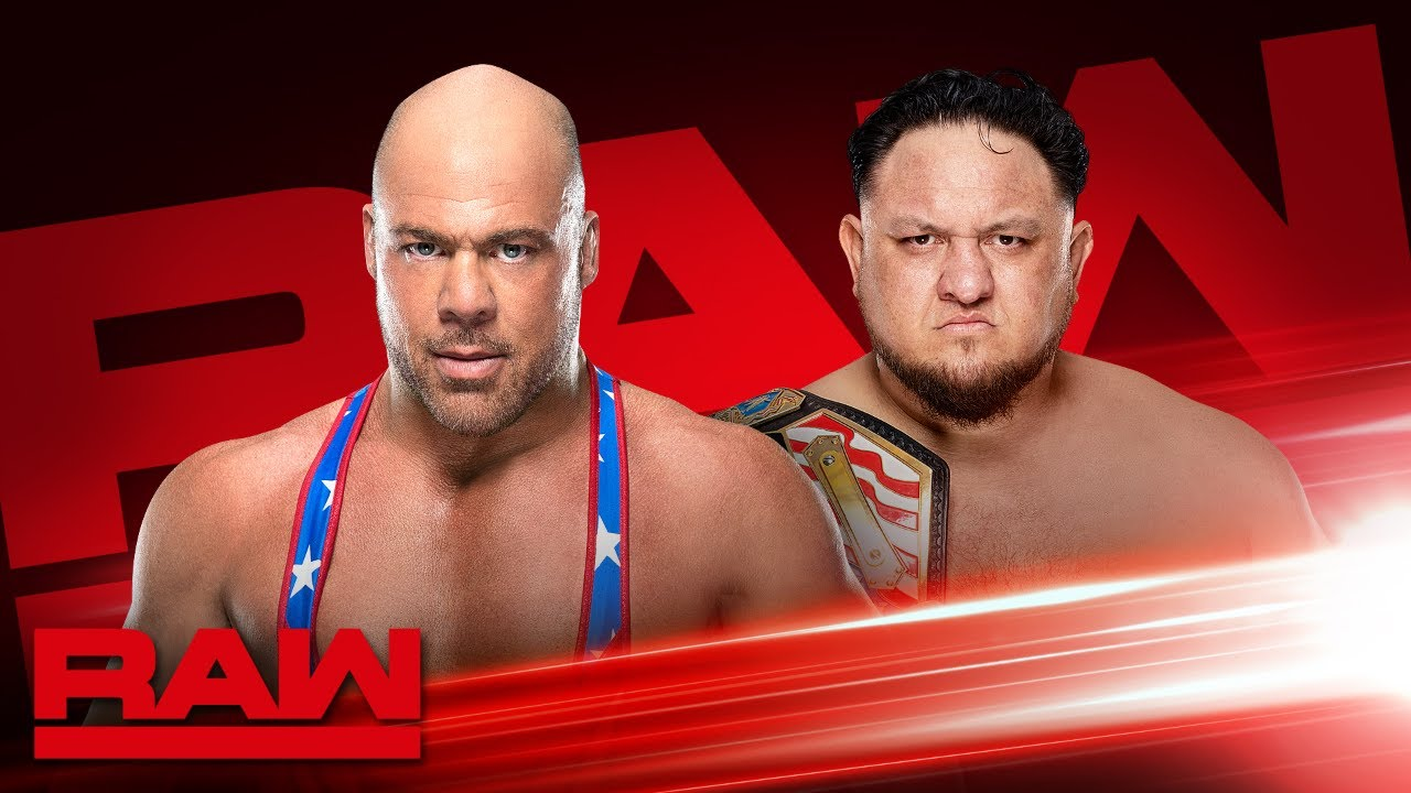 Kurt Angle vs. Samoa Joe / WWE Monday Night Raw (25/03/2019) - WWE
