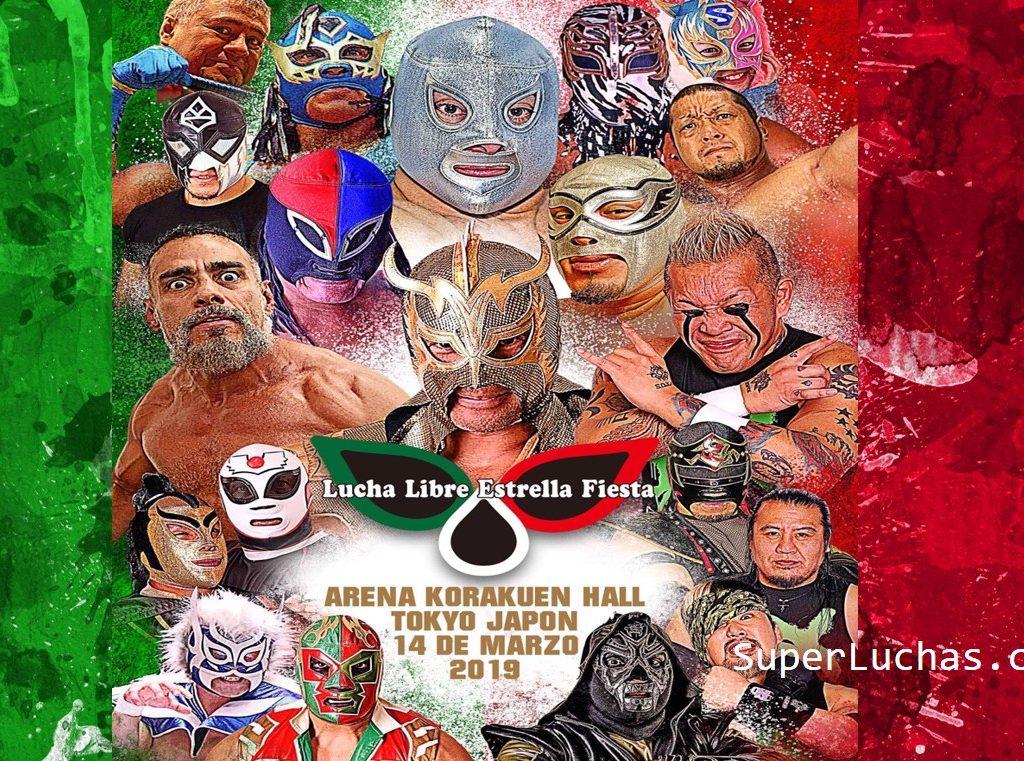 """Cartel """"Lucha Libre Estrella Fiesta"""" Homenaje a la lucha mexicana 4"""
