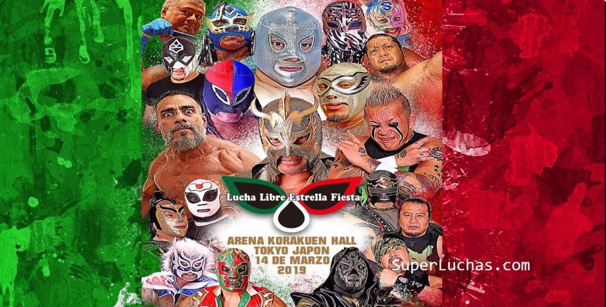 """Poster """"Lucha Libre Estrella Fiesta"""" Tribute to the Mexican struggle 5"""