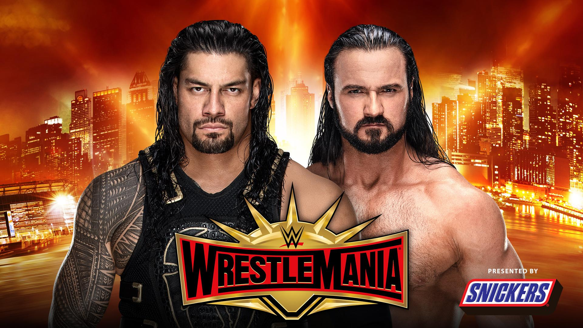 Roman Reigns vs. Drew McIntyre en WWE WrestleMania 35 (07/04/2019) / WWE