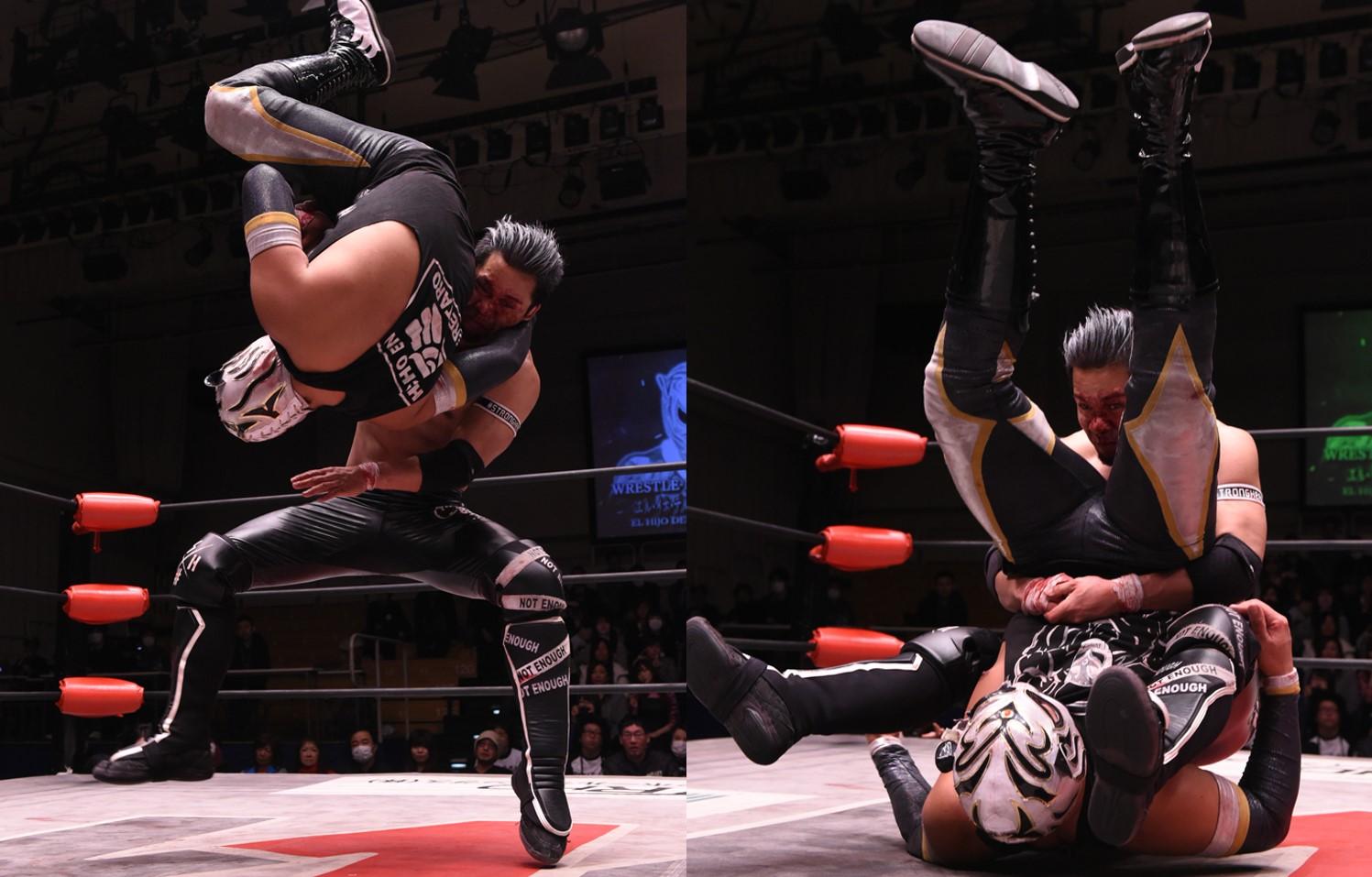 W-1:Seiki Yoshioka vence a Hijo del Pantera y lesionado gana torneo 9
