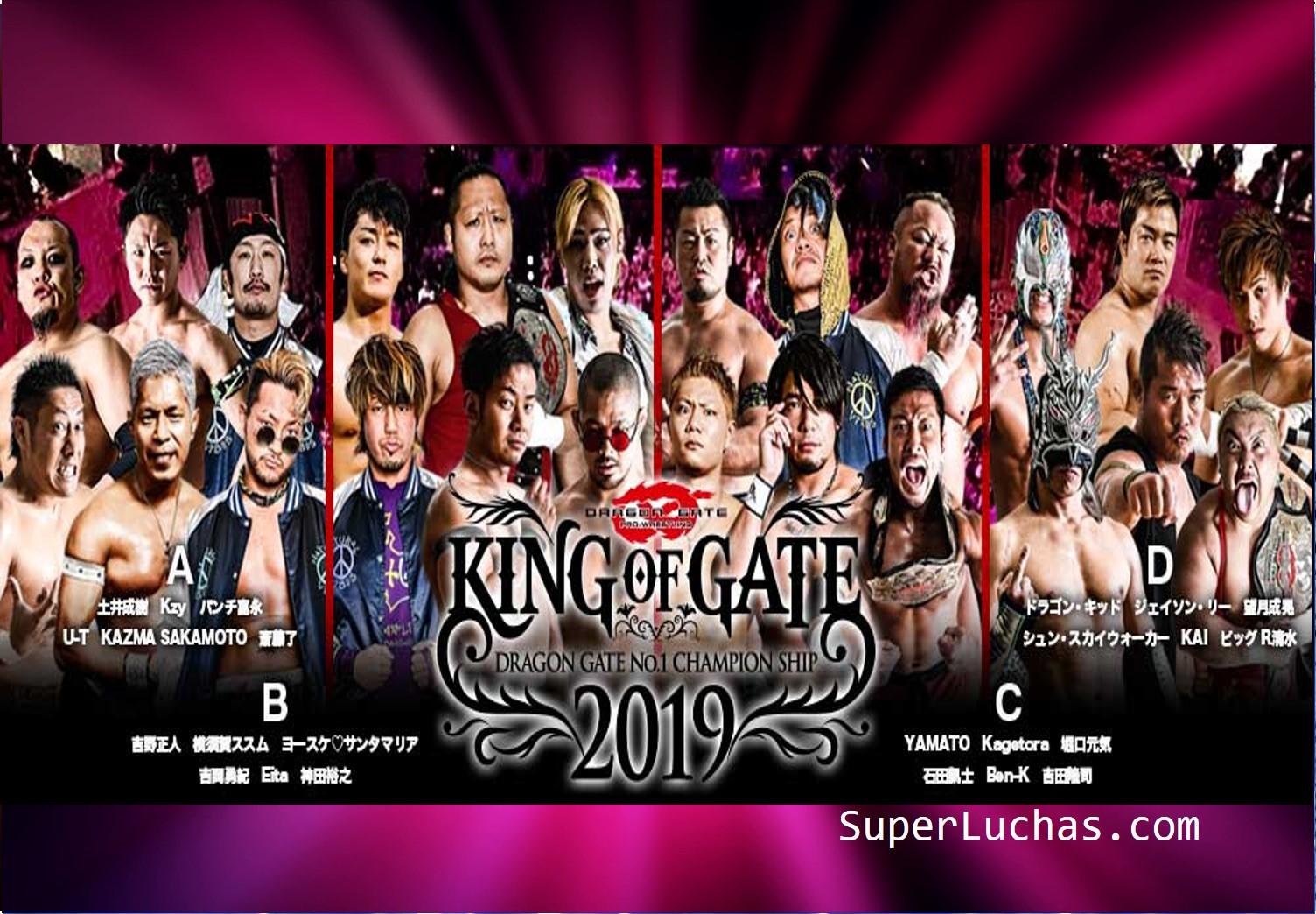 "Dragon Gate: Participantes y grupos para ""King of Gate 2019"" 1"
